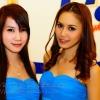 Pretty Thai lady Presentor drinking products