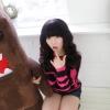 Beautiful Korean girl, so cute in her style