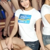 Pretty Model lady from Intel so cute at WCEO contest