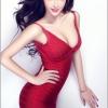Wang Xin Yi so seyx with red beauty dress