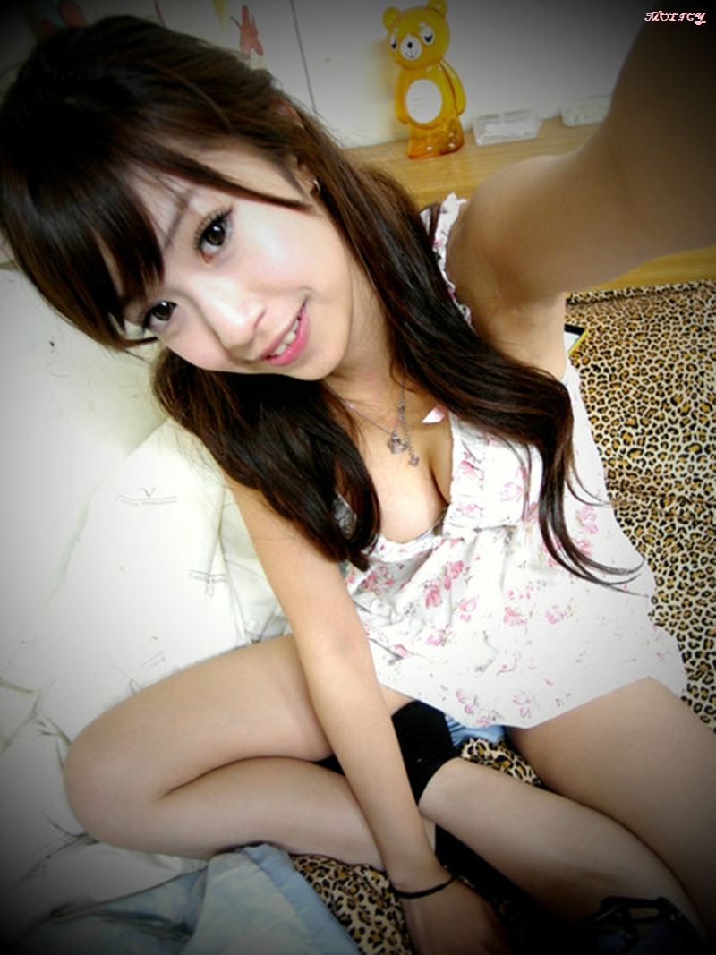 Asian lady sexy in her self.
