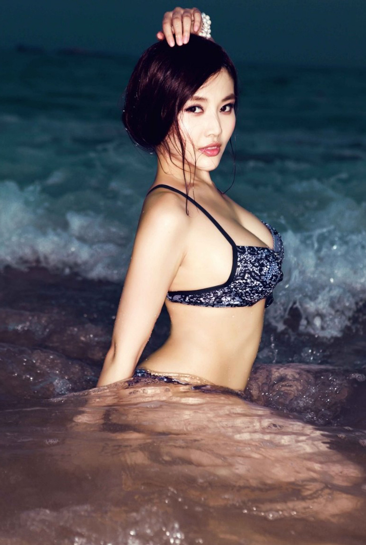 Perfect lady in the water