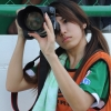 Jan (Chalinee Thirasupa), Camera girl. PR of Bangkok Glass FC